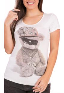 T-Shirt Tok Fashion Estampa Urso Off White
