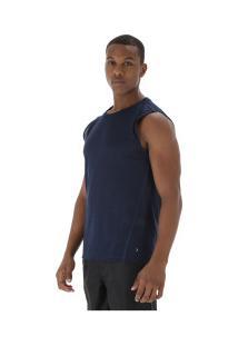 Camiseta Regata Oxer Textura Sublimada - Masculina - Azul Escuro