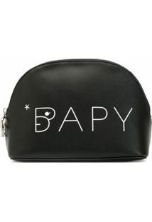 Bapy By *A Bathing Ape® Necessaire Com Textura Granulada - Preto