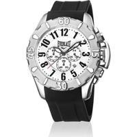c3380fb4fd9 Relógio De Pulso Everlast Cx Aço Pulseira Silicone Analógico -  Masculino-Preto+Branco