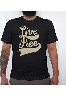 Live Free - Camiseta Clássica Masculina
