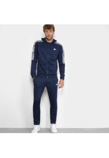 Agasalho Adidas Refocus Masculino - Masculino-Marinho+Branco