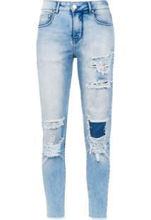 Amapô Calça Jeans Skinny 'Viena' - Azul
