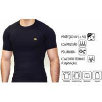 Camisetas Esportivas Com Manga Compressao  3062c0c900b95