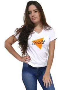 Camiseta Gola V Cellos Nacho Premium Feminina - Feminino
