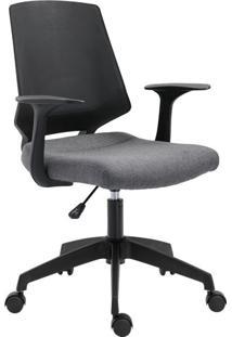 Cadeira De Escritório Secretária Pietra Cinza