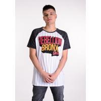 a43d49d4e Camiseta Raglan Com Listras Rebellion Bronx