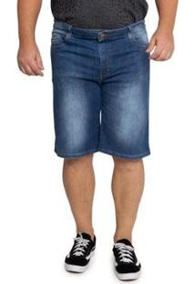 Bermuda Jeans Grupo Avenida Plus Size Masculina - Masculino-Azul