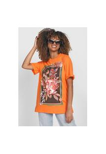 Camiseta Colcci Art Laranja