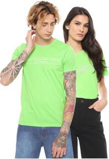 Camiseta Colcci No Gender Neon Lettering Verde