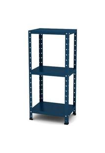 Estante De Aço Multiuso De Canto Pandin - Azul Del Rey / 90 Cm