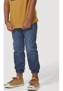 Calça Jeans Infantil Menino Jogger Com Cadarço Hering Kids