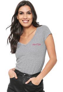 Camiseta Planet Girls Básica Cinza