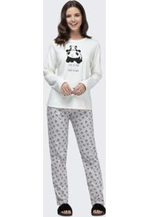 Pijama Manga Longa Branco