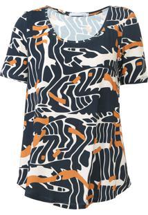 Camiseta Sacada Deserto Bege/Azul-Marinho