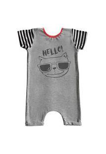 Pijama Curto Comfy Hello