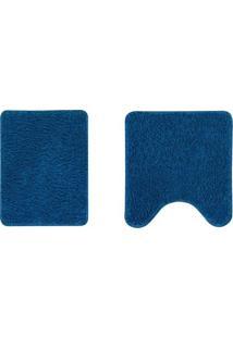 Jogo De Tapetes Para Banheiro- Azul- 2Pã§S- Oasisoasis