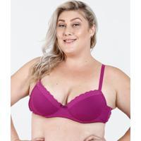67925766c Marisa. Sutiã Feminino Com Base Renda Plus Size Marisa
