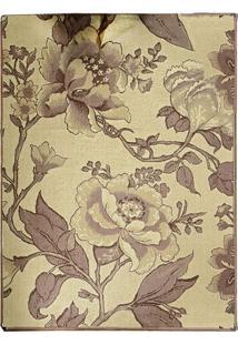 Tapete Andino Floral Iii Retangular Polipropileno (50X80) Tabaco