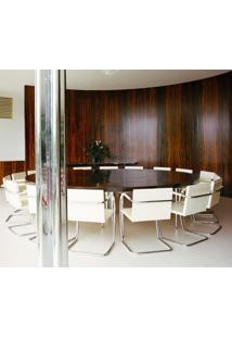 Cadeira Mr245 Inox Couro Bege C