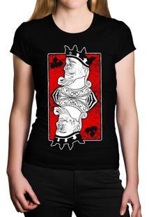 Camiseta Baby Look Hshop King Preto
