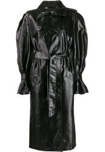 Olivier Theyskens Trench Coat Com Cinto - Preto