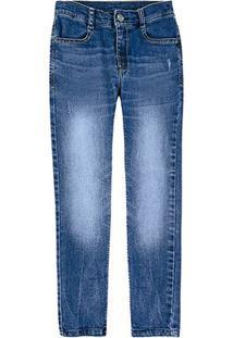 Calça Jeans Juvenil Hering Estonada Masculina - Masculino-Azul