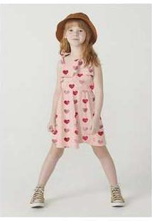 Vestido Em Malha De Algodão Sem Manga Rosa