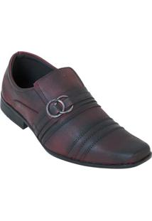 Sapato Social Vinho Com Elástico