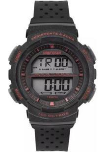 Relógio Mormaii Digital Fun Mo36508R Preto/Branco - Unissex