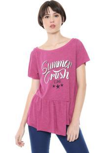 Camiseta Coca-Cola Jeans Summer Crush Rosa