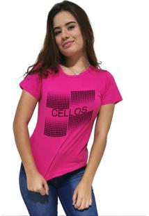 Camiseta Feminina Cellos Degradê Premium Rosa - Kanui