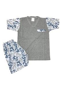 Pijama Infantil 100% Algodão Tênis Bolso