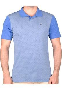 72a5ce6958481 Camisa Poa Hurley Masculina - Masculino-Azul