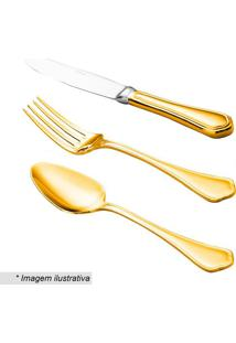 Faqueiro Zurich- Inox & Dourado- 101Pçs- Rojemacwolff