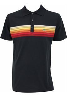Camisa Pau A Pique Polo - Feminino-Marinho