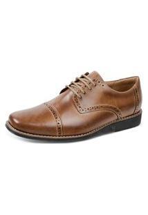 Sapato Social Oxford Sandro Moscoloni Vintary Marrom Claro