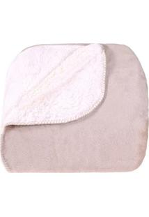 Manta Sherpa Queen Dupla Face - Tessi -Taupe