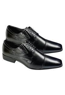 Sapato Masculino Social Couro Jota Pe Air Manhattan 40101 Preto