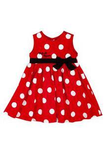 Vestido Infantil - Tricoline - Poás - Minnie Mouse - Disney