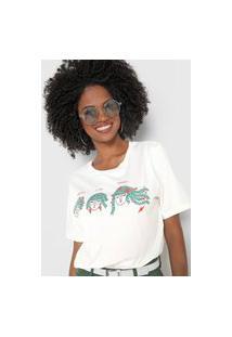 Camiseta Cantão Floreça À Sua Maneira Off-White