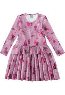 Vestido Evasê Frozen Ii® Malwee Kids Rosa Claro - 1