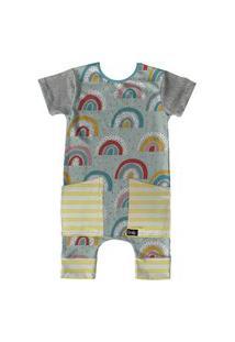 Pijama Curto Comfy Rainbow