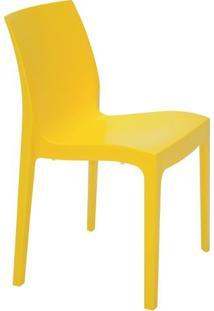 Cadeira Alice Satinada- Amarela- 80,5X49,5X51,5Cm