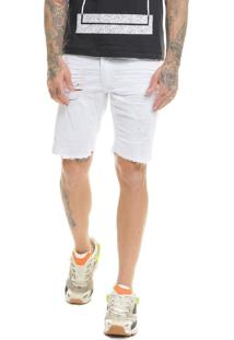 Bermuda Offert Jeans Com Lycra Premium Destroyed Desfiada Skinny - Kanui
