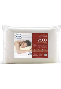 Travesseiro Visco Cervical- Off White- 14X68X48Cm