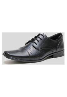 Sapato Social Com Cadarço Ded Calçados Bico Fino Preto