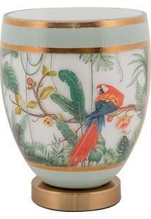 Vaso Decorativo De Cristal E Bronze Vii- Linha Botanique