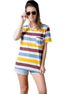 Camiseta Manga Curta Colors Woman Feminina - Feminino