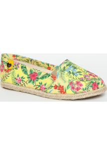 Alpargata Floral- Amarela & Pinkcarmen Steffens